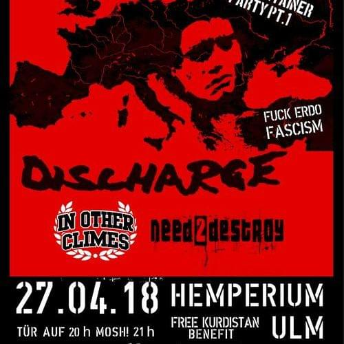 Tickets kaufen für Discharge - In Other Climes - Need to Destroy 20 Jahre Hasscontainer - Party Teil 1 am 27.04.2018